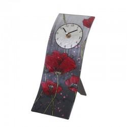 Horloge murale ou à poser Coquelicots rouges