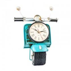"Horloge vintage "" Moto "" bleu"