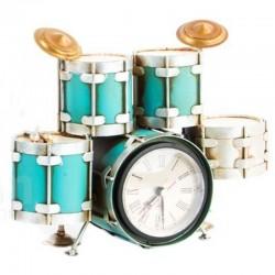 """Horloge vintage """" BATTERIE """" bleu"""