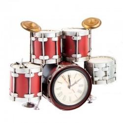 "Horloge vintage "" BATTERIE "" rouge"