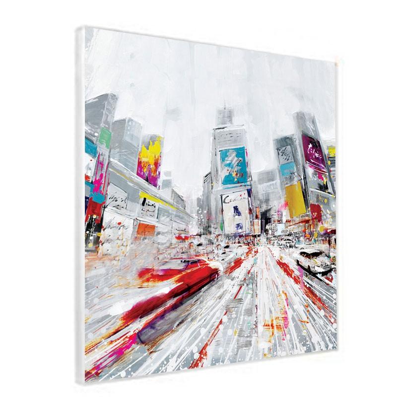 """ New york ""Tableau contemporain urbain ,80x80"