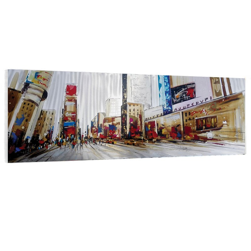 """ Times Square "", Tableau contemporain urbain, 50X150."