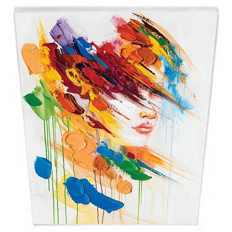 """"""" Visage femme """", Tableau contemporain 60x80."""