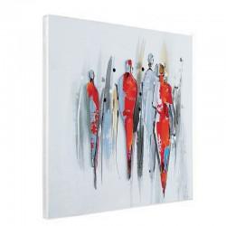 """"""" Personnages métal design """",Tableau contemporain 60x60."""