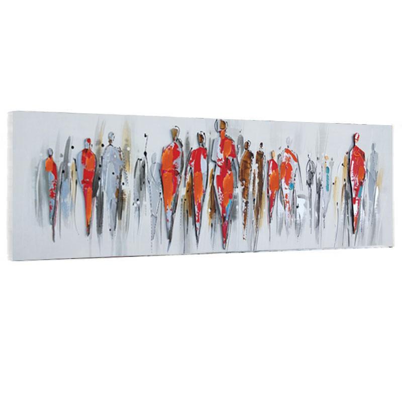 """"""" Personnages design """", Tableau contemporain 50x150."""