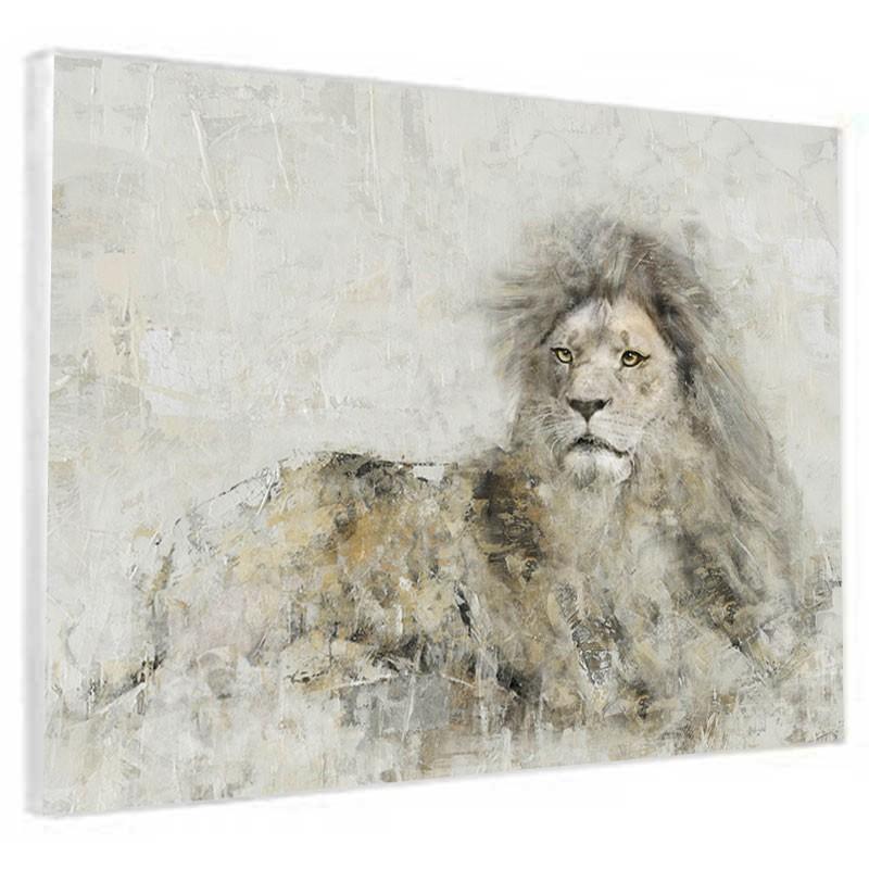 """"""" Lion """", Tableau contemporain animal,90x120."""