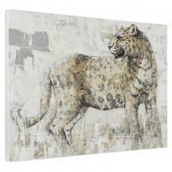 """"""" Léopard """", Tableau contemporain animmaux,90x120."""