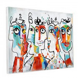 """ VISAGES DESIGN "",Tableau contemporain 80x120 cm"