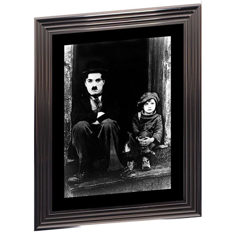 Image encadrée N&B, C.CHAPLIN, 50x70