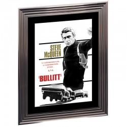 "Image encadrée N&B, S.MAC QUEEN "" Bullitt "", 50x70"