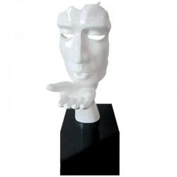 Sculpture visage souffle d'espoir Existence