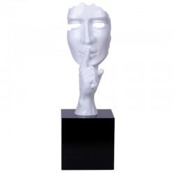 """visage Chut, sagesse "", sculpture design à poser"