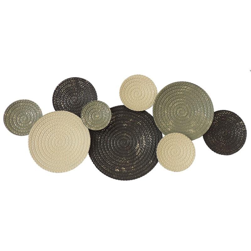 Déco murale métal Cercles tressés