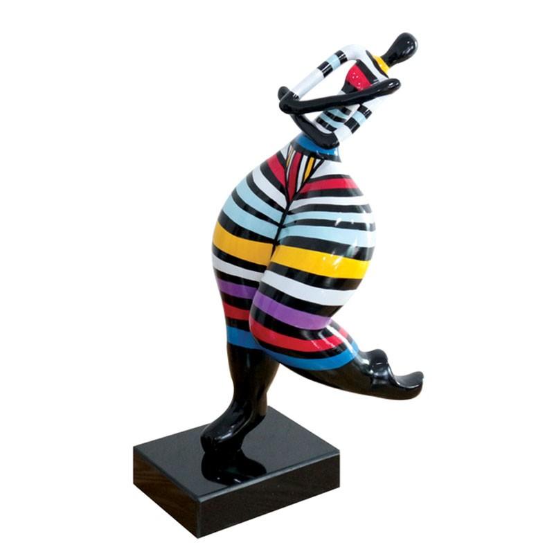 Sculpture design FEMME RONDE enlacée