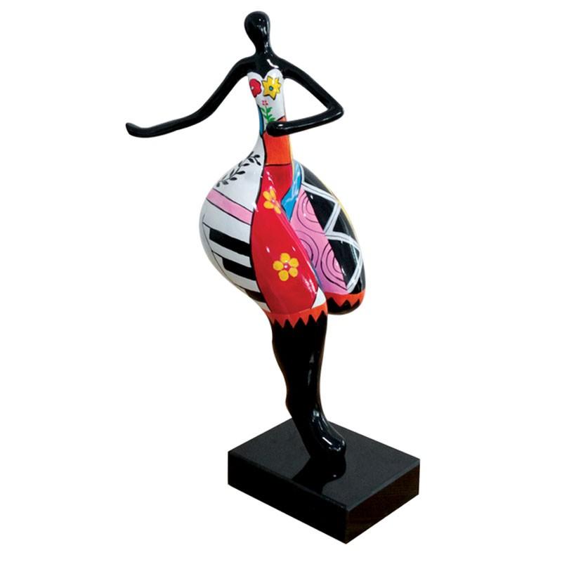 Sculpture design FEMME RONDE FLEURIE