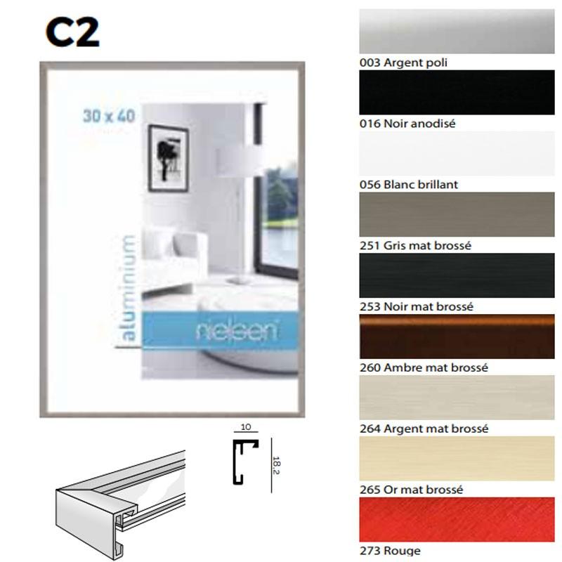 cadre carr 40x40 nielsen alu standard mod le c2 d co cadre. Black Bedroom Furniture Sets. Home Design Ideas