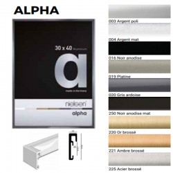 Cadre carré 70x70 alu ALPHA...