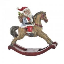Déco noël, Cheval à bascule et Père Noël