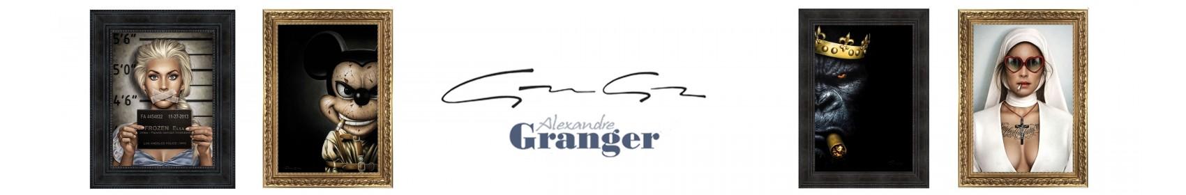 Tableaux contemporains de peintures abstraites peints à la main