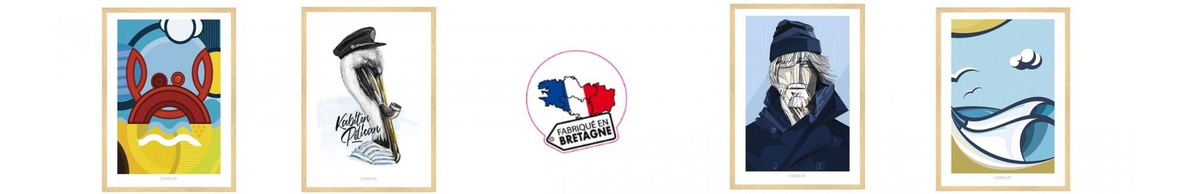 Tableaux contemporains de peintures marines peints à la main